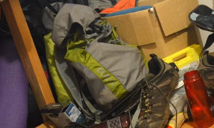 On hiking gear storage and being a bit mental
