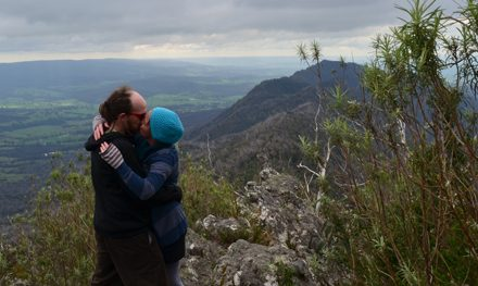 That time I dragged my lady up a mountain and asked her to marry me