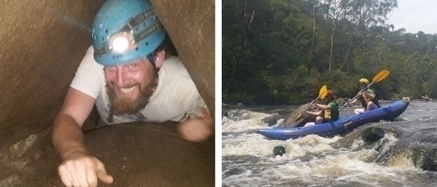 Caving and kayaking, a stones throw from Melbourne