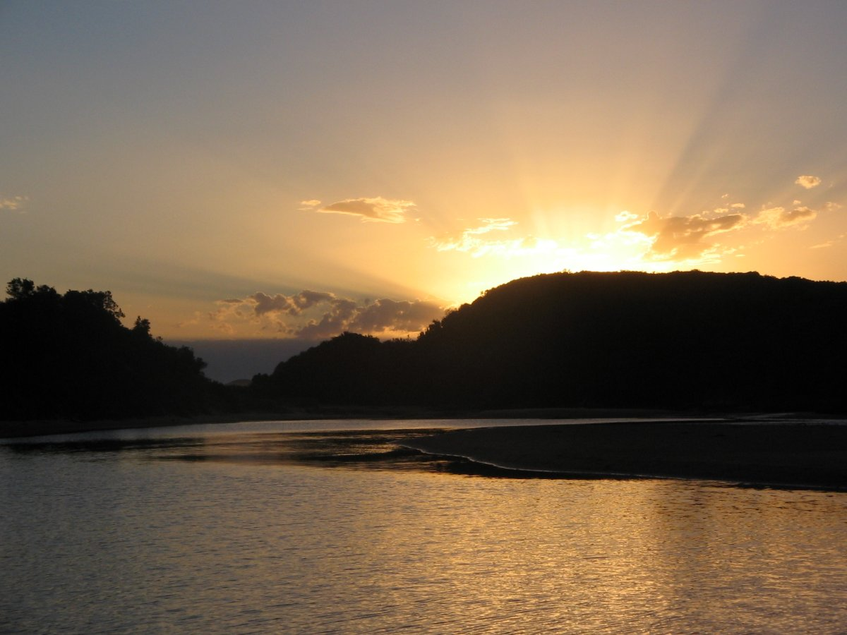 Red River Sunset - Croajingolong National Park - Victoria