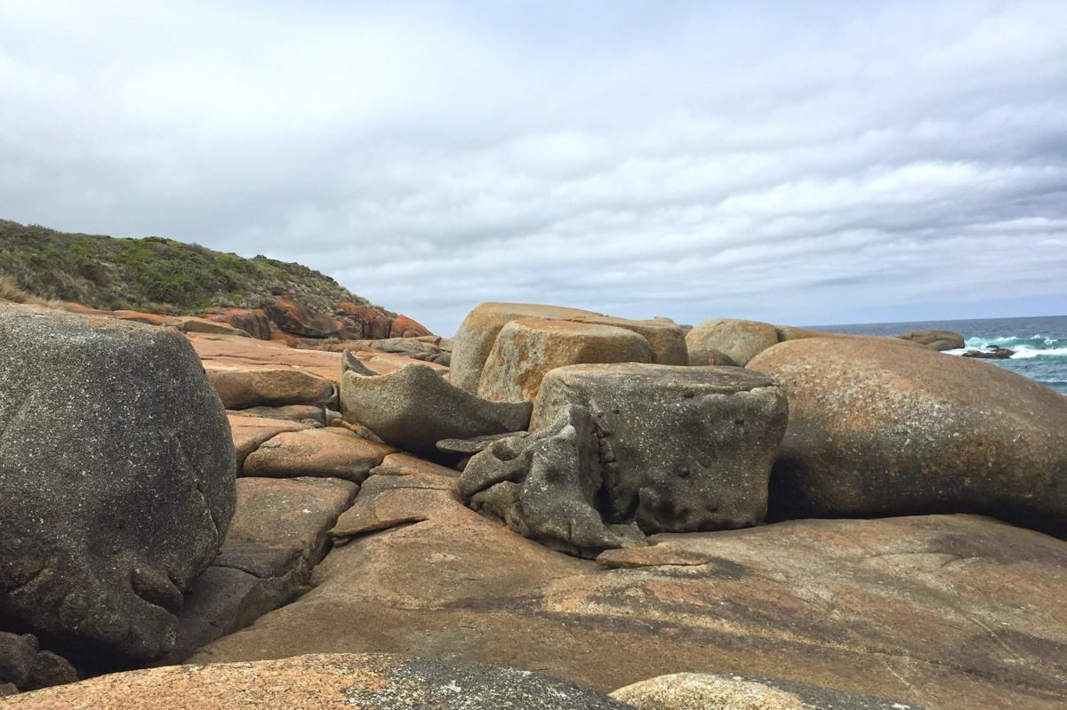 Rocks en route to Red River - Croajingolong National Park - Victoria