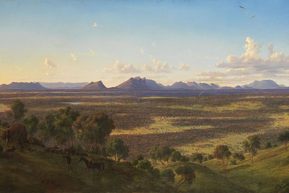 View of the Grampians and Victoria Ranges from Mount Rouse