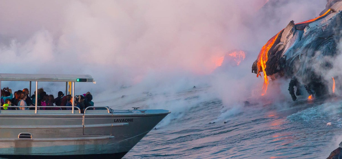 Kilauea Volcano: See lava flow into the ocean