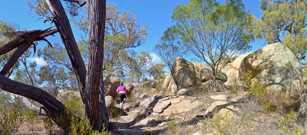 Melville Caves Southern Lookout Walking Track - Kooyoora State Park - Victoria - Australiia