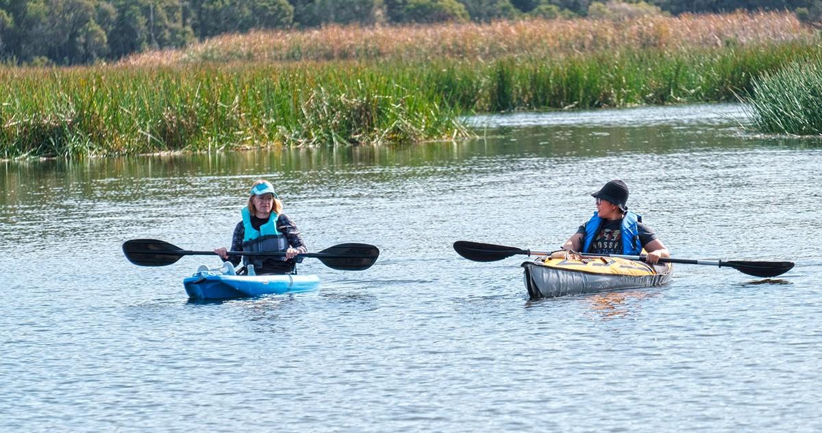 Kayaking Lysterfield Lake